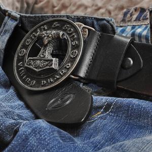 Leather belt Hammer black